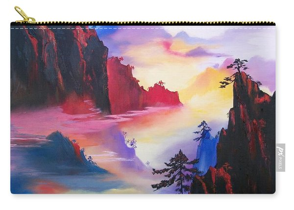 Mountain Top Sunrise Carry-all Pouch