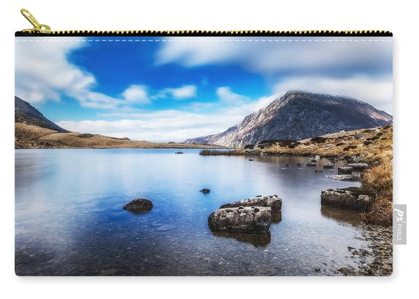 Carry-all Pouch featuring the photograph Mountain View by Nick Bywater