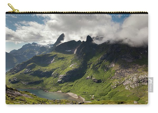 Mountain With Horns From Brunakseltind Carry-all Pouch