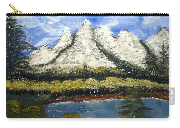 Mountains And Evergreens Carry-all Pouch