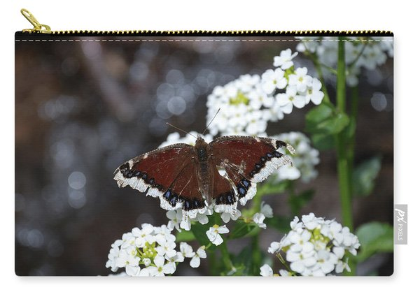 Carry-all Pouch featuring the photograph Mourning Cloak by Jason Coward