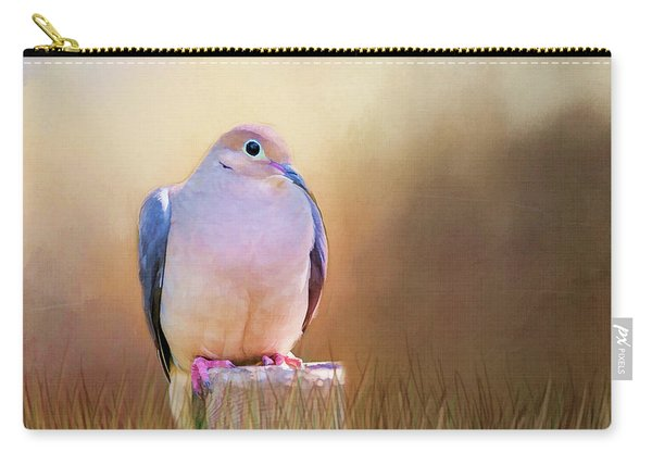 Mourning Dove Painted Portrait Carry-all Pouch