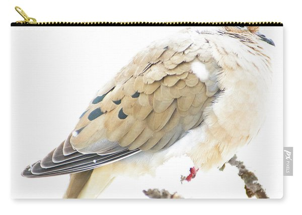 Mourning Dove, Snowy Morning Carry-all Pouch