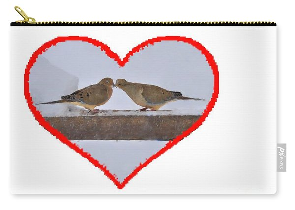 Mourning Doves Kissing Carry-all Pouch