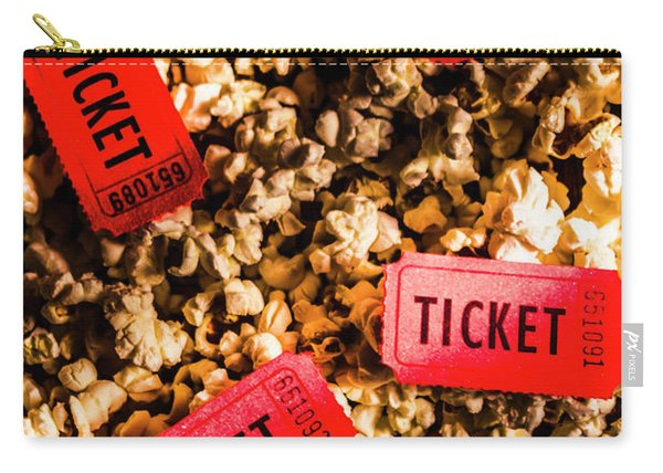 Movie Tickets On Scattered Popcorn Carry-all Pouch