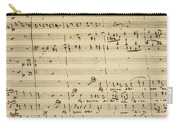Mozart: Requiem Excerpt Carry-all Pouch
