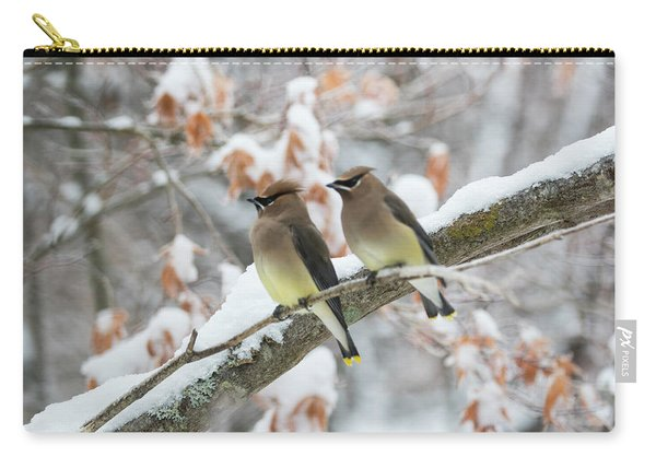 Mr. And Mrs. Cedar Wax Wing Carry-all Pouch