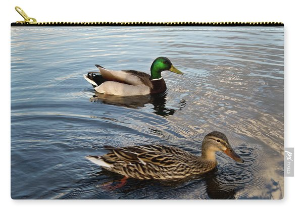 Mr And Mrs Duck On Parade Carry-all Pouch
