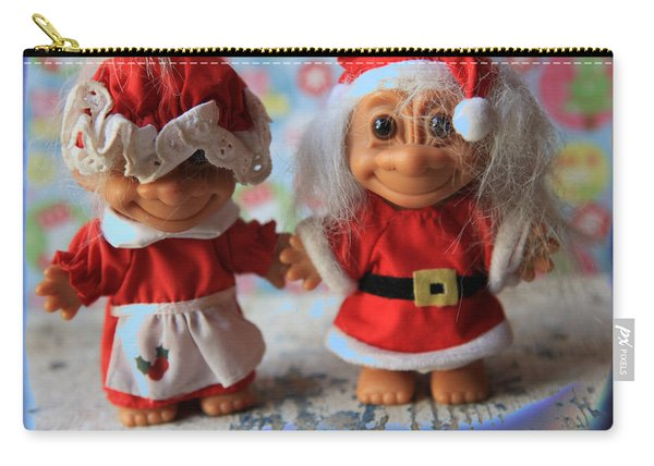 Mr And Mrs Santa Troll Carry-all Pouch