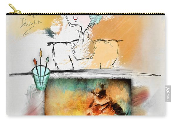 Mrs. Darwin's Theory Of Evolution Self Portrait  Carry-all Pouch