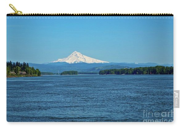 Mt. Hood Above The Columbia River Carry-all Pouch