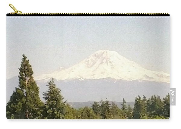 Carry-all Pouch featuring the photograph Mt Rainer by Jimmy Clark