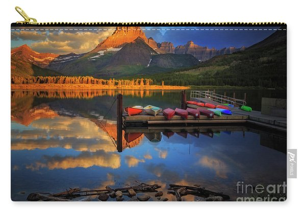 Mt. Wilbur And Swiftcurrent Lake Morning Carry-all Pouch