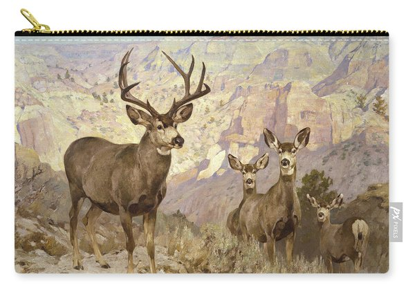 Mule Deer In The Badlands, Dawson County, Montana Carry-all Pouch