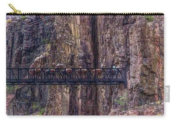 Mule Train On Black Bridge, Grand Canyon Carry-all Pouch