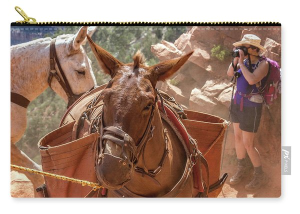 Mule Train On The South Kaibab Trail Carry-all Pouch
