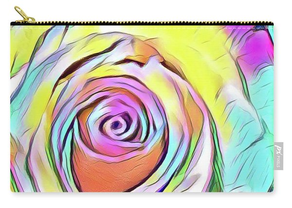 Multi-colored Rose Carry-all Pouch