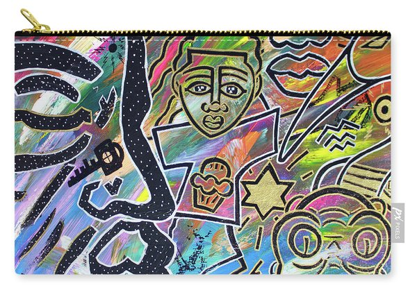 Multi-dimensional Beings Stepping Out The Body Walking Through The Cosmos Carry-all Pouch