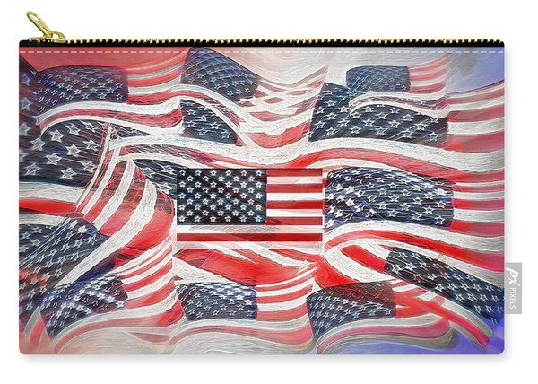 Multi - Flag Abstract  Carry-all Pouch