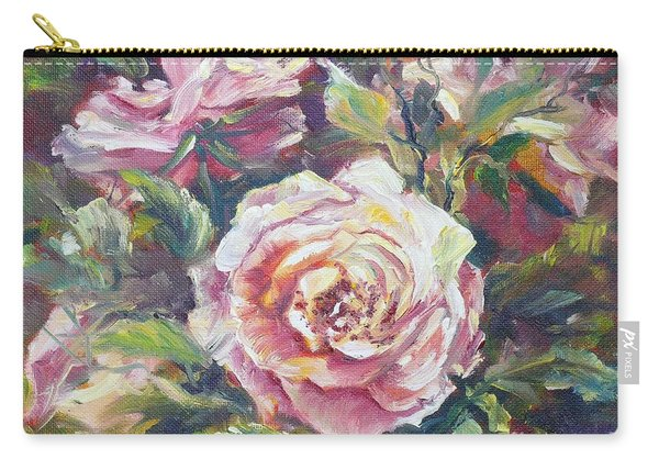 Carry-all Pouch featuring the painting Multi-hue And Petal Rose. by Ryn Shell