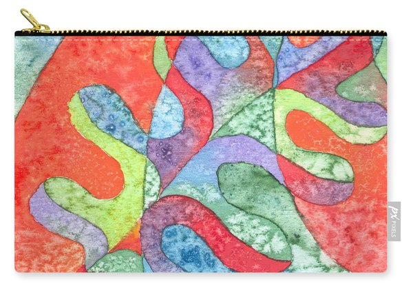 Multicolor Oak Leaf Carry-all Pouch