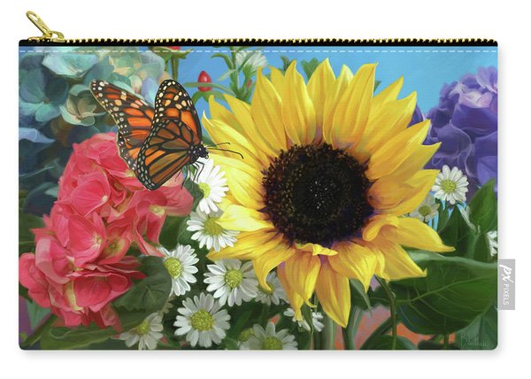Multicolor With Monarch Carry-all Pouch