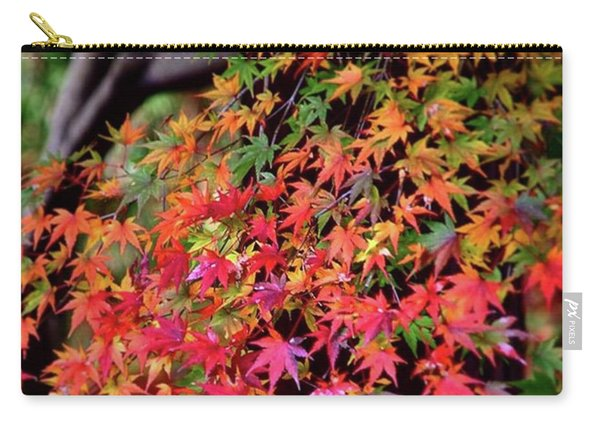 Multicolored Autumn Leaves Carry-all Pouch