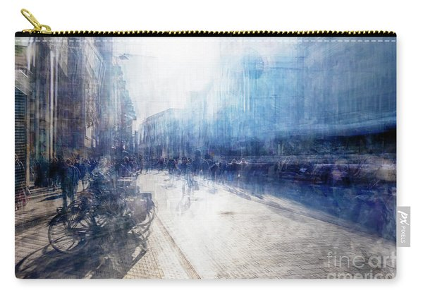 Carry-all Pouch featuring the photograph Multiple Exposure Of Shopping Street by Ariadna De Raadt