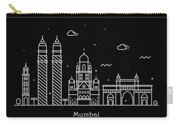 Mumbai Skyline Travel Poster Carry-all Pouch