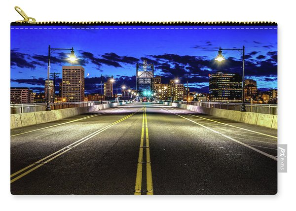 Murray Morgam Bridge During Blue Hour In Hdr Carry-all Pouch
