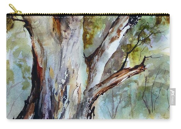 Carry-all Pouch featuring the painting Murray River Gum, Cobram. by Ryn Shell