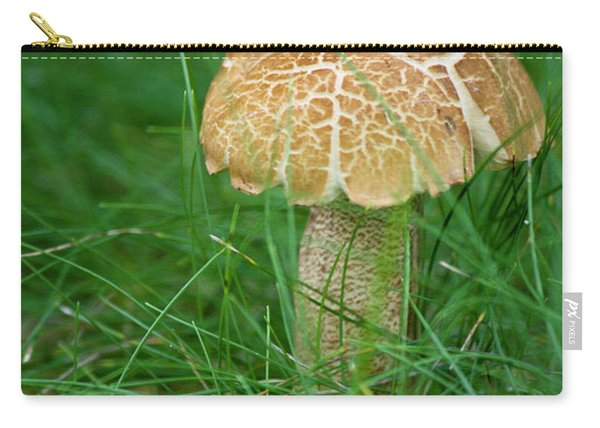 Mushroom In The Grass Carry-all Pouch
