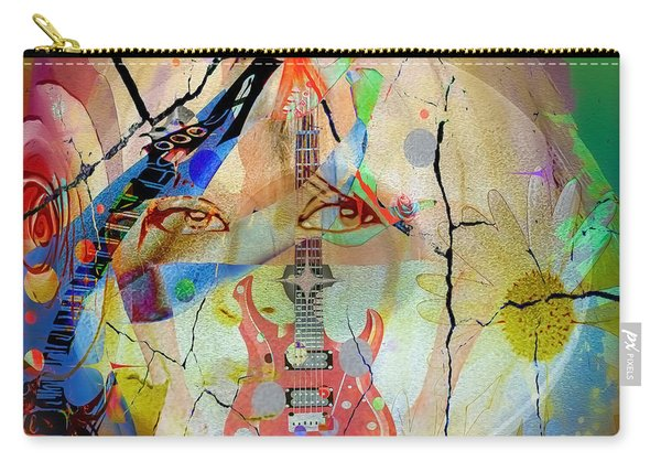 Carry-all Pouch featuring the digital art Music Girl by Eleni Mac Synodinos