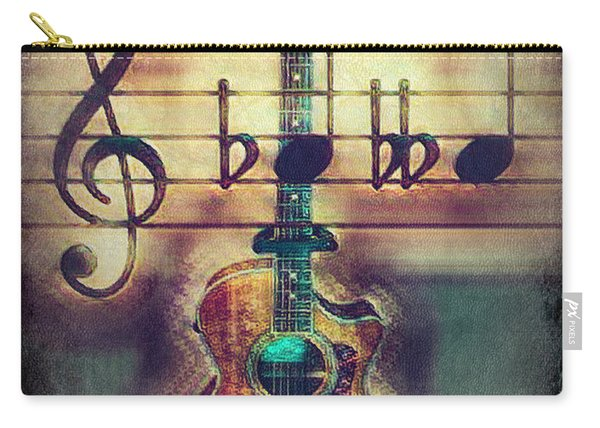 Music Guitar In Masculine Tones Carry-all Pouch