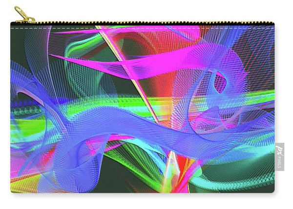 Carry-all Pouch featuring the digital art Music Note by Visual Artist Frank Bonilla