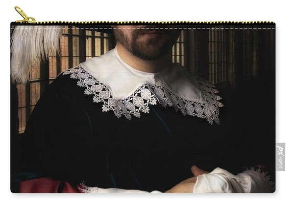 Carry-all Pouch featuring the photograph Musketeer In The Old Castle Hall by Jaroslaw Blaminsky