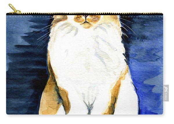Mustached Bicolor Beauty - Cat Portrait Carry-all Pouch
