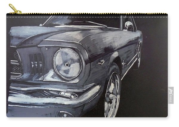 Carry-all Pouch featuring the painting Mustang Front by Richard Le Page
