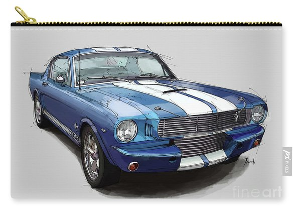 Mustang Shelby 1965 Handmade Drawing For Man Cave Carry-all Pouch