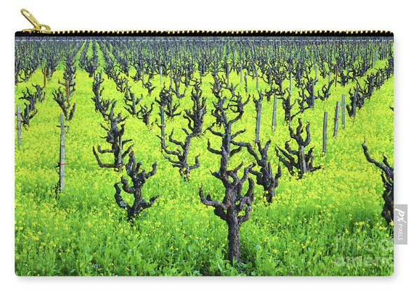 Mustard Flowers In The Vineyards Carry-all Pouch
