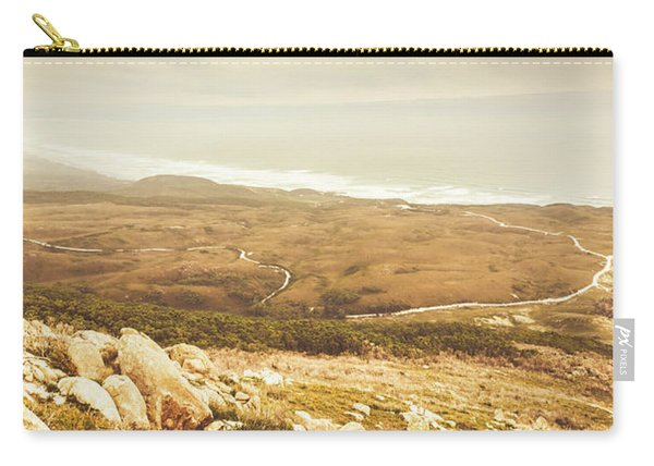 Muted Mountain Views Carry-all Pouch