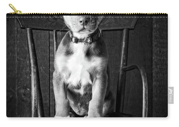 Mutt Black And White Carry-all Pouch