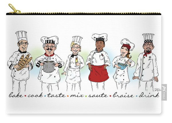 My Chefs In A Row-i Carry-all Pouch