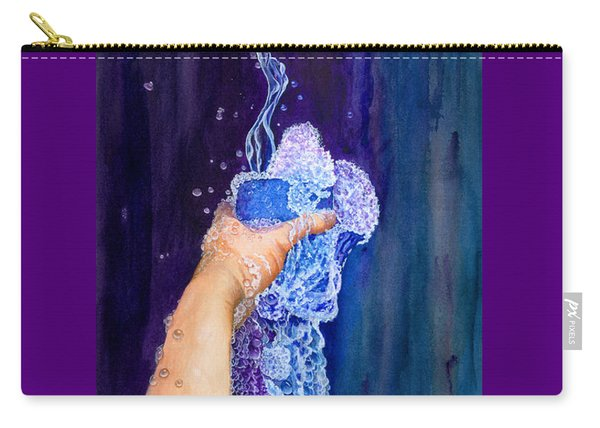 Carry-all Pouch featuring the painting My Cup Runneth Over by Nancy Cupp