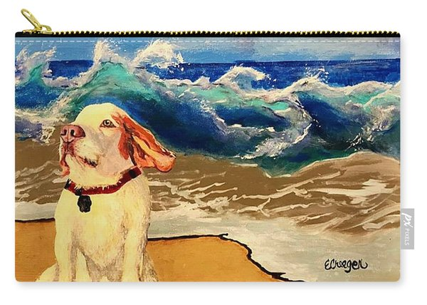 My Dog And The Sea #1 - Beagle Carry-all Pouch