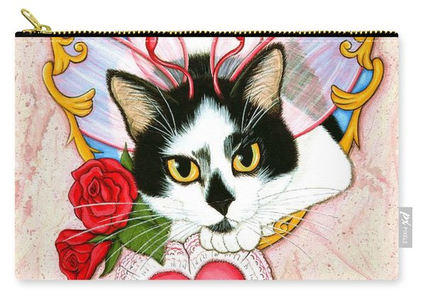 My Feline Valentine Tuxedo Cat Carry-all Pouch