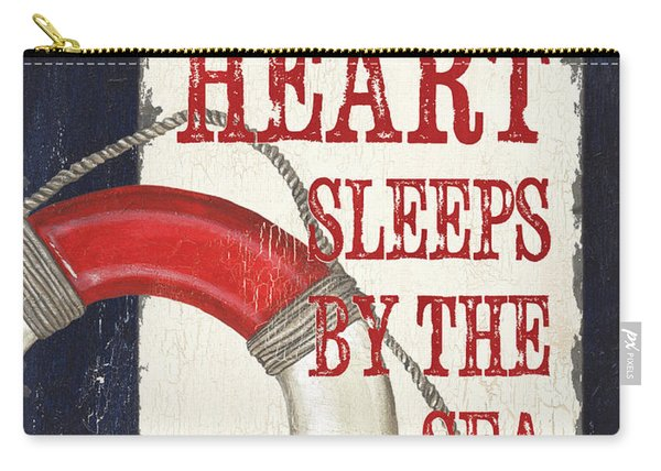 My Heart Sleeps By The Sea Carry-all Pouch