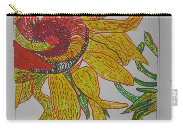 My Version Of A Van Gogh Sunflower Carry-all Pouch