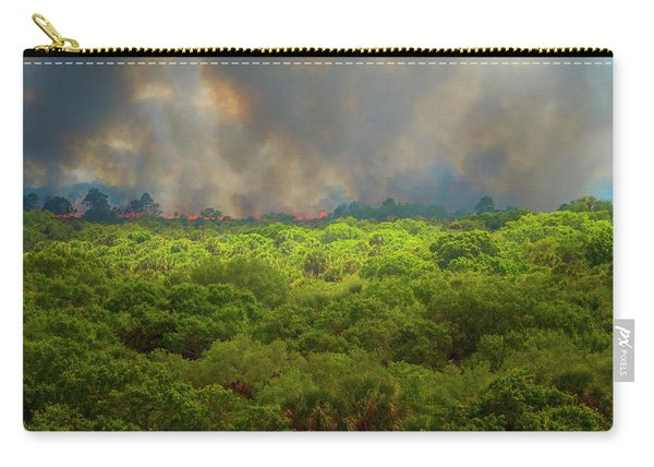 Carry-all Pouch featuring the photograph Myakka River Burn by Tom Singleton