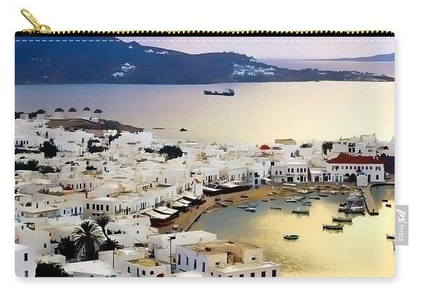 Mykonos Greece Carry-all Pouch